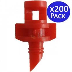 360º irrigation micro sprinkler. Range 1 to 1.5 meters. 200 units