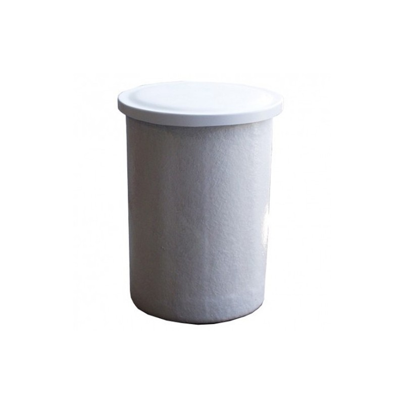 Depósito poliéster fibra 500 litros circular
