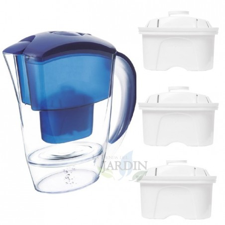 Jarra purificadora agua 2 litros + 3 filtros recambio