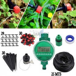Kit riego automático por goteo macetas y plantas 25 mts