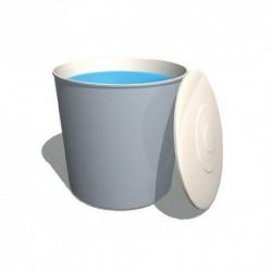 Depósito poliéster fibra 3000 litros circular