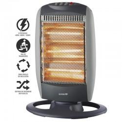 Estufa halógena con 3 ajustes de temperatura