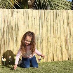 CAÑIZO natural partido JARDIN 1 x 5 m, útil para ocultación, delimitación o sombrajes.