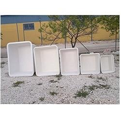 Depósito poliéster fibra 100 litros rectangular