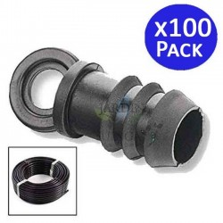 Drip irrigation plug 16mm black. 100 units