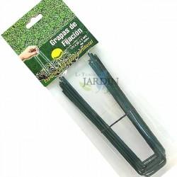 Grapas de fijación verdes césped artificial
