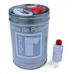 Kit Resina de Poliester 5 kg + catalizador peróxido