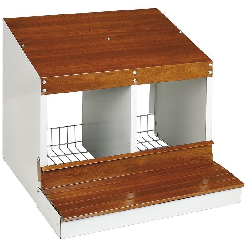 Chicken hen 2 departments 53x50x44 cm