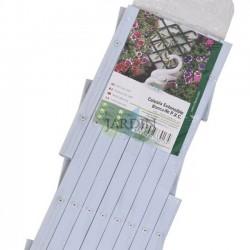 Weißes PVC-Gitter für den Garten