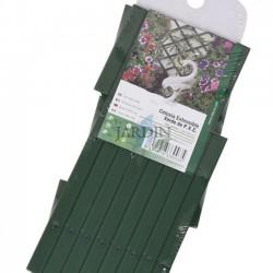 Grünes PVC-Gitter für den Garten