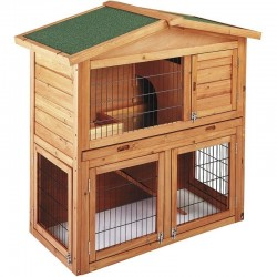 Prague wooden chicken coop 102x55x100 cm