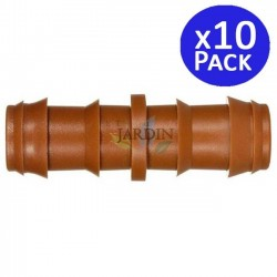 Enlace riego por goteo 16mm marrón. 10 unidades