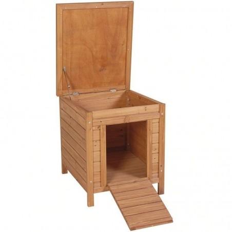 Caseta de madera Lisboa para gallinas y conejos 42x52x43 cm