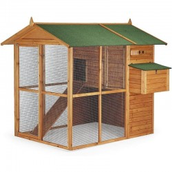 Brussels model wooden chicken coop 177x193x173 cm