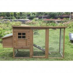 Caseta de madera para gallinas Lyon 98x76x103 cm