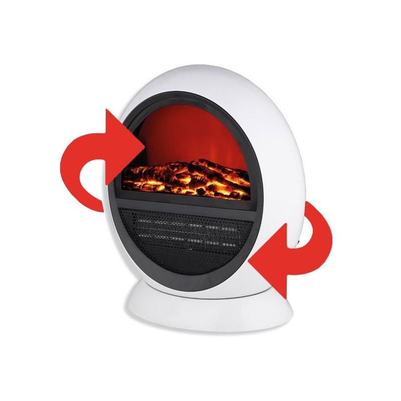 Estufa eléctrica efecto llama