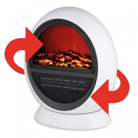 Estufa eléctrica oscilante con efecto llama y decorativa 750W - 1500W