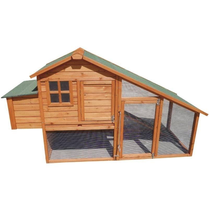 Gallinero de madera Amsterdam 195x77x105 cm