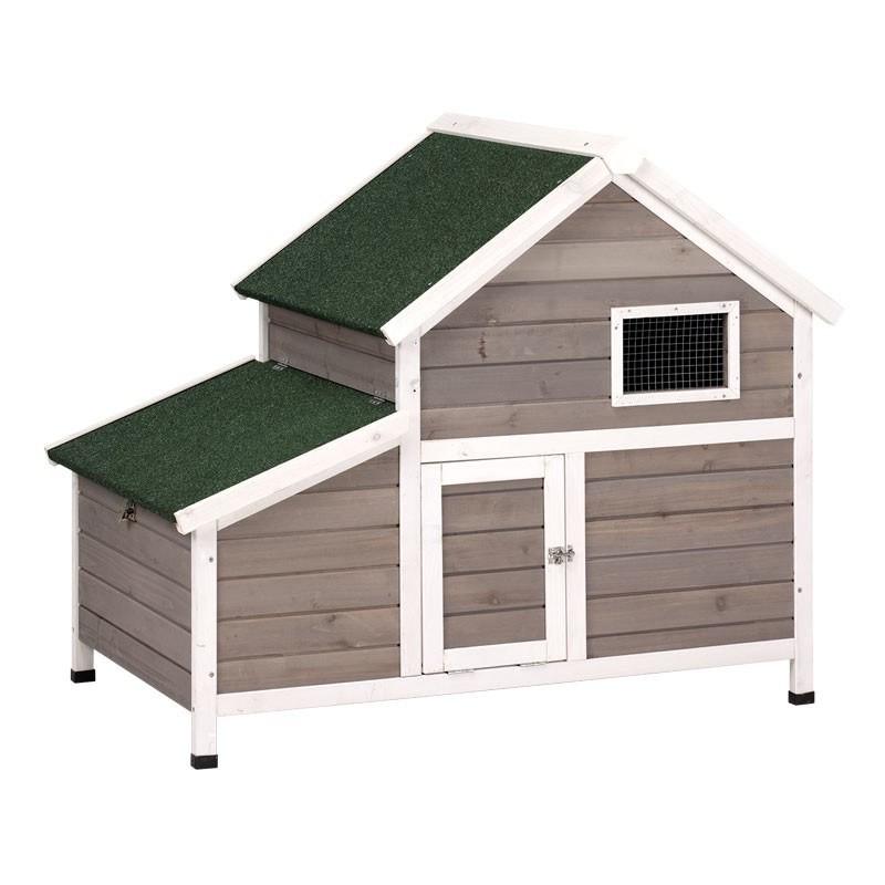Caseta de madera para gallinas Francia 119x77x98 cm