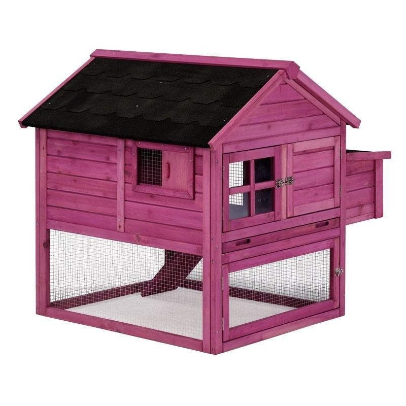 Italy wooden chicken coop 111x100x100 cm