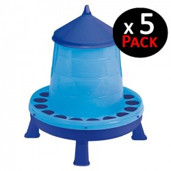Blue hopper 4 Kg for chickens. Pack 5 feeders