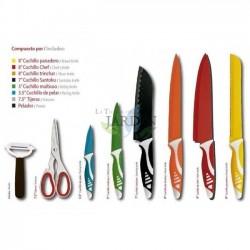 Set of 8 German design knives