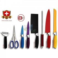 Set of 8 Swiss design knives