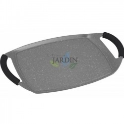 Induction plate stone cladding 47 cm gray