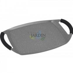 Plancha inducción revestimiento de piedra 47 cm gris