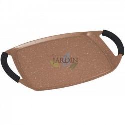 Induktionsplatte Steinverkleidung 47 cm braun