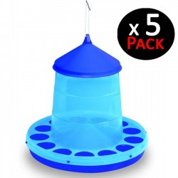 Blue hopper 2 Kg for chickens. Pack 5 feeders