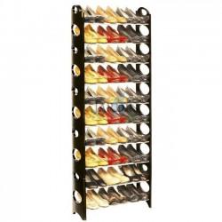 Shoe rack 30 pairs 155x64x18 cm