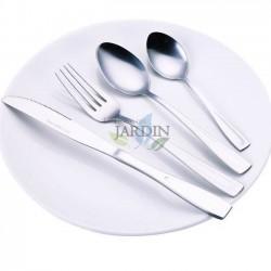 16 Cubiertos inoxidables: 4 cucharas, 4 tenedores, 4 cuchillos y 4 cucharillas