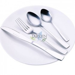 16 stainless cutlery: 4 spoons, 4 forks, 4 knives and 4 teaspoons