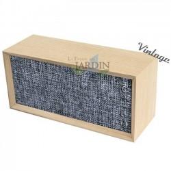 Radio Altavoz Vintage bluetooth panel gris