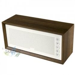 Radio Altavoz Vintage bluetooth panel blanco