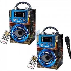 Pack 2 x Radio Bluetooth speaker Paris with karaoke function