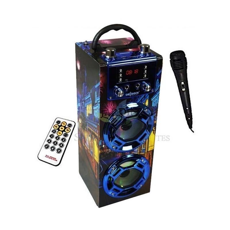 Radio Altavoz Bluetooth Londres 5r Sound Con Función Karaoke
