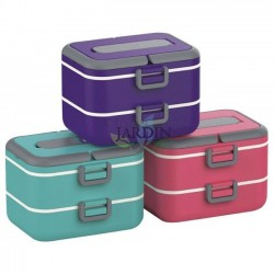 Double lunch box 1.5 liters (random color)