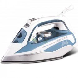 2200W professional steam iron, light blue ceramic coating