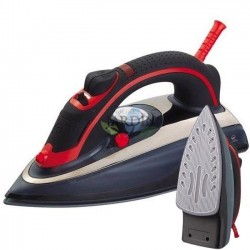 2200W professional steam iron, black ceramic coating