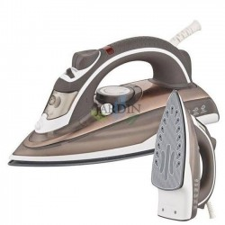 2200W professional steam iron, beige ceramic coating