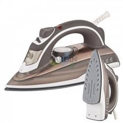 2200W professional steam iron, beige ceramic coating