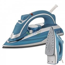 Plancha de vapor profesional 2200W, revestimiento cerámica azul