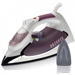 2200W steam iron, purple ceramic coated soleplate
