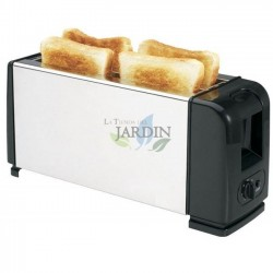 Stainless 1300W 4-slice toaster