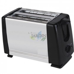 Stainless bread toaster 750W 2 slices