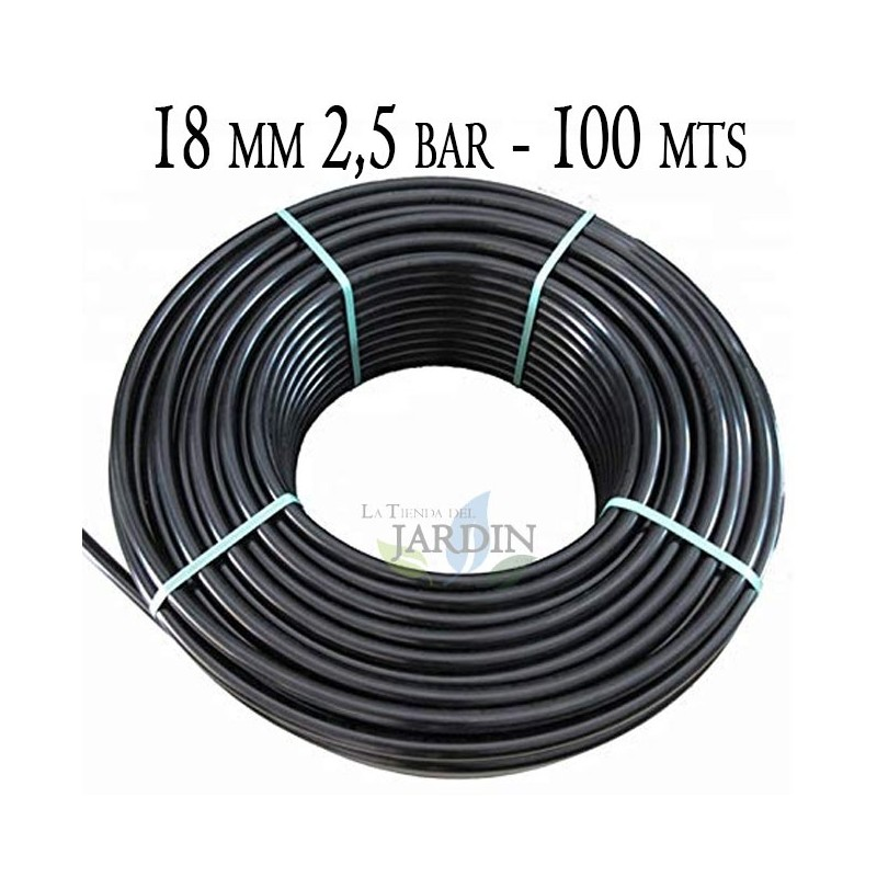 Agricultural pipe 18mm 2.5 bar 100mt black
