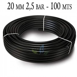 Agricultural pipe 20mm 2.5 bar 100mt black