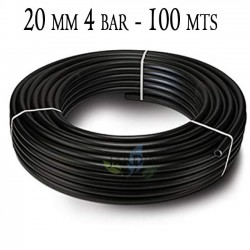 Agricultural polyethylene pipe 20mm 4 bar 100mt black